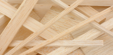 balsa: Group of cut model making and crafting balsa wood samples
