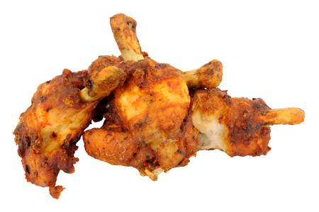 trimmed: Group of cooked trimmed chicken wings isolated on a white background
