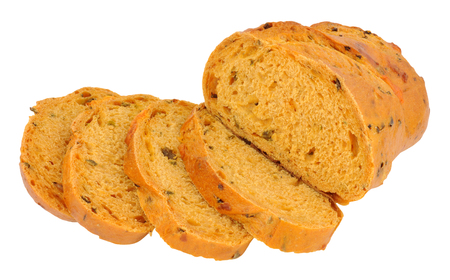 bloomer: Chilli and cheese flavoured crusty bloomer loaf Stock Photo