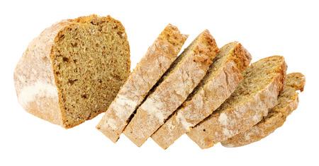 bread soda: Traditional Irish wheaten soda bread loaf isolated on a white background