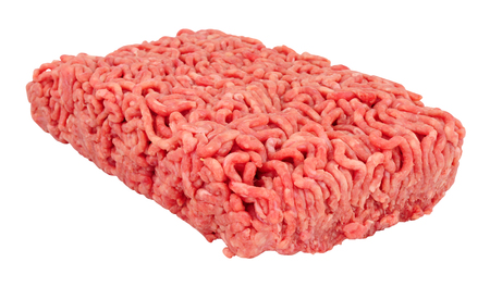 Fresh raw beef mince meat isolated on a white background