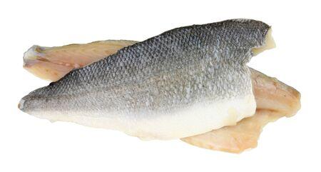Filets de poisson basa cru également connu sous le nom de cordonnier de rivière isolé sur fond blanc