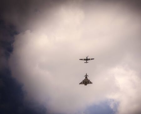 vj: Eurofighter and Spitfire and the VJ Fly Past Editorial