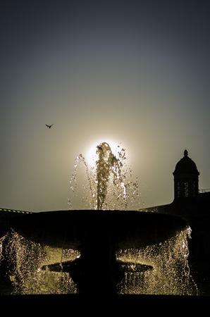 trafalgar: Fountain at Trafalgar Square