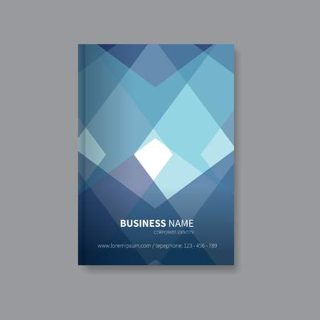 page layout: brochure leaflet for business, front page layout