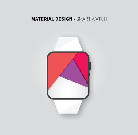 stylesheet: vector user interface layout background with smart watch Illustration