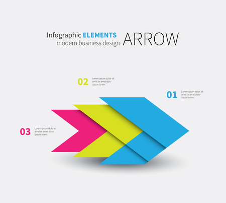 presentaion: vector modern arrow element with 3 options, presentaion Illustration