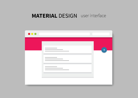 stylesheet: vector browser with material page layout design background
