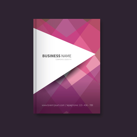 abstact: modern  brochure with abstact background, a4 size Illustration
