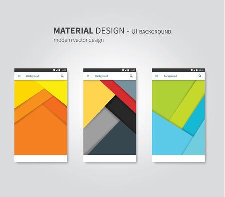 stylesheet: abstract user interface temaplates of overlaps paper Illustration
