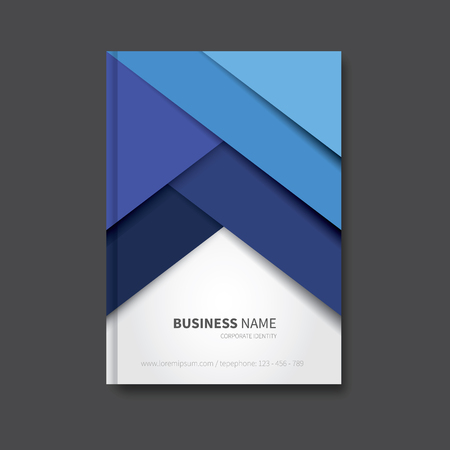notebook design: modern vector brochure background, cover for report, corporate