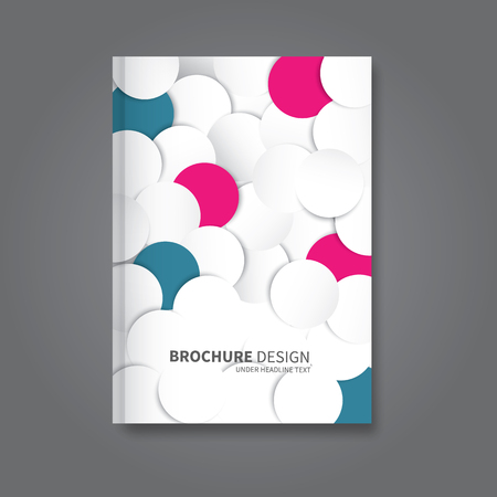 a5: vector circles or dots overlayed in brochure design for business or presentation, report