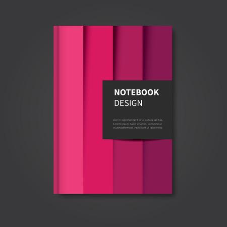 モダンな抽象ノートブック、パンフレット、表紙デザイン