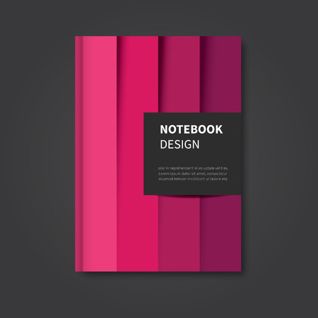 catalog cover: modern abstract notebook, brochure, book design cover