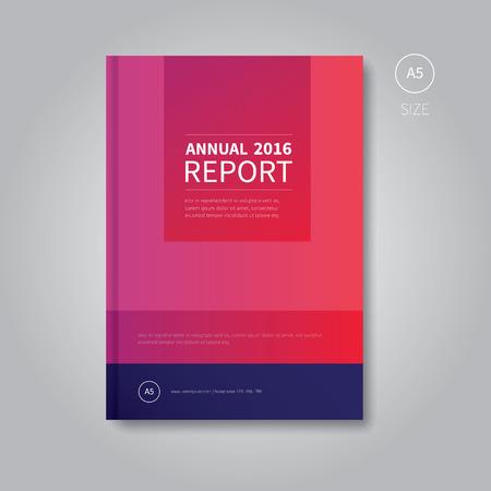 a5: modern vector design for finance corporate identity Illustration