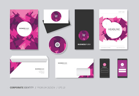 a5: vector corporate identity in purple abstract version Illustration