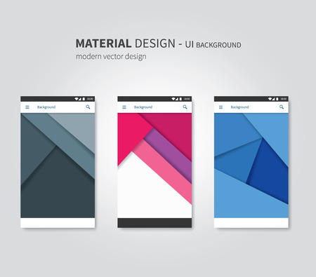 material: abstract user interface temaplates of overlaps paper Illustration