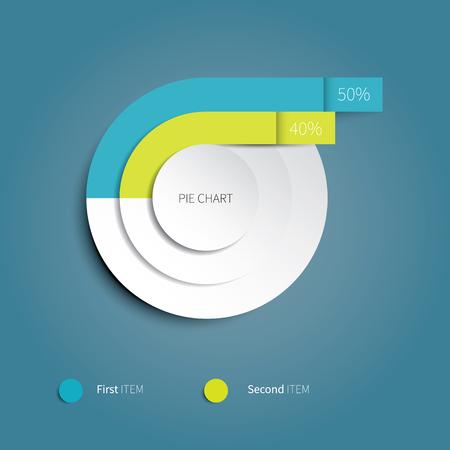 heldere vector cirkeldiagram voor infographic ontwerp