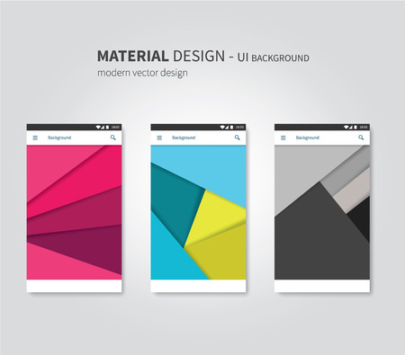 abstract user interface temaplates of overlaps paper Illustration
