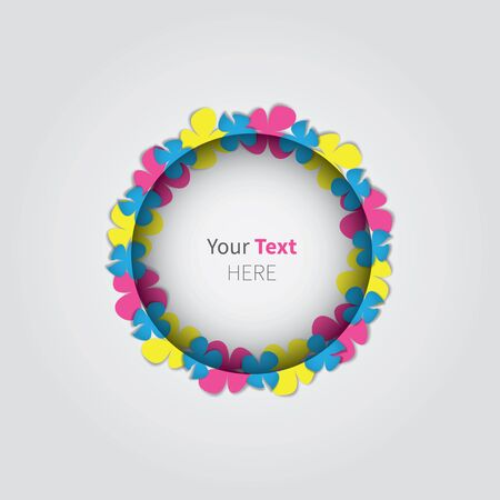 free place: rounded free place for text with colour flowers