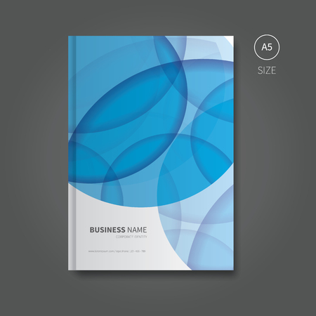 a5: first page design of brochure or book