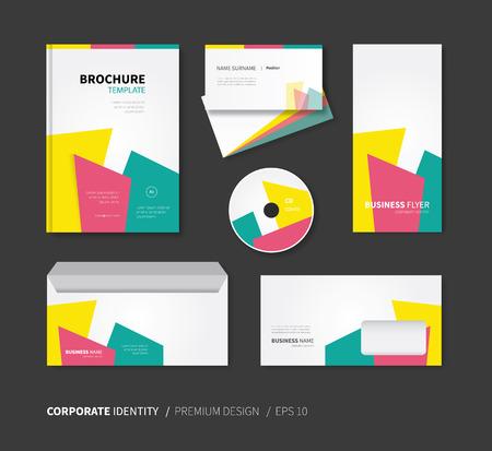 a5: modern vector business card, brochure, envelope, flyer, cd cover Illustration