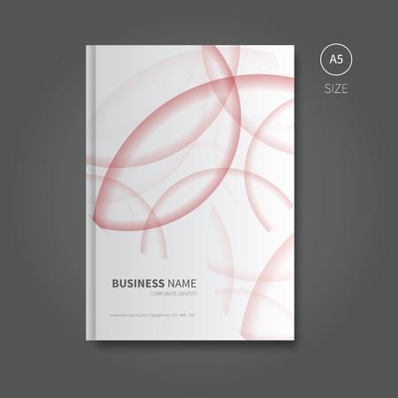 première conception de page de la brochure ou un livre