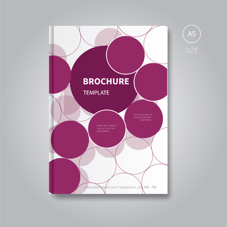 a5: vector book cover design with circle concept