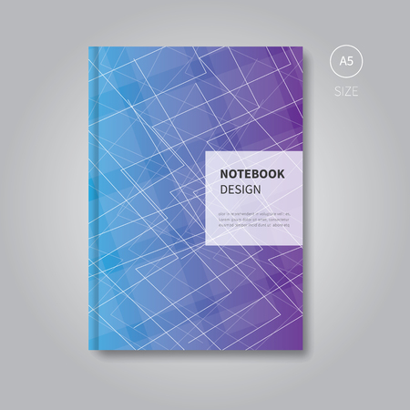 notebook design: notebook design with abstract background for print