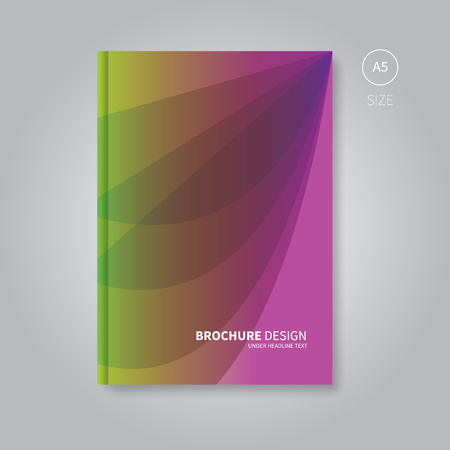 fresh colors: vector modern gradient template in fresh colors