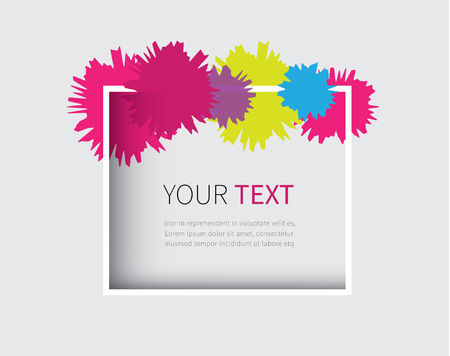 place your promote text in free space in square frame