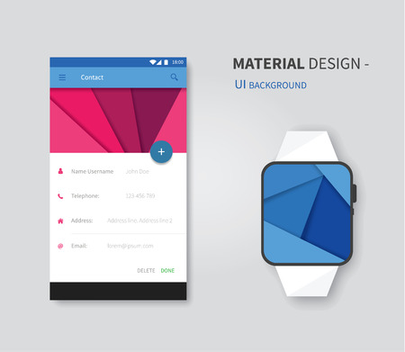 stylesheet: vector user interface layout with smart watch