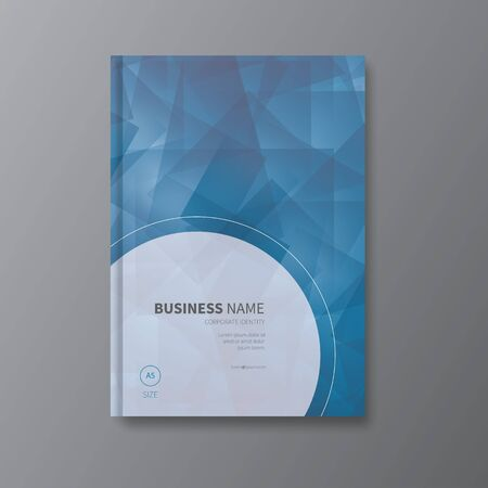 a5: modern vector polygonal, triangle shapes design cover for business, annual report