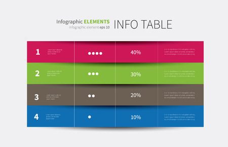 vector tabular graphic for summary with columns and rows Illustration
