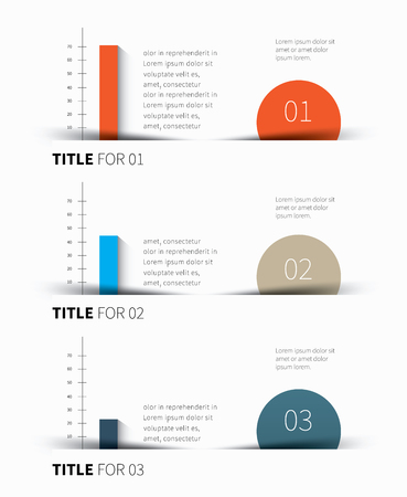 summary: vector 3 color background for business statistics, summary
