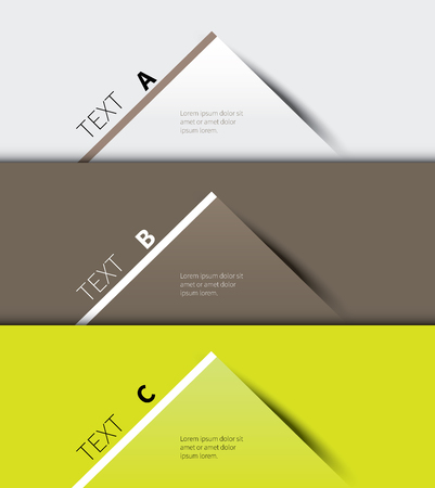vector paper graphic for business info presentation
