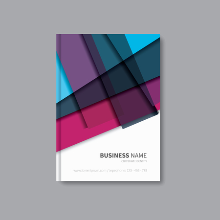 a5: flyer brochure template vector with abstract background
