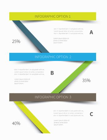 cuadro sinoptico: Gr�fico de vector de papel para la presentaci�n de informaci�n empresarial
