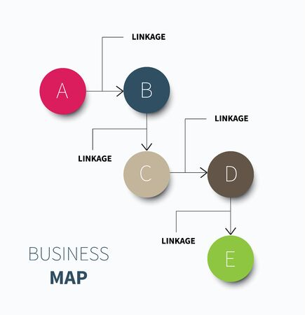 summary: vector business infographic for summary and network style Illustration
