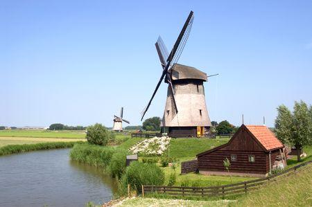 Dutch Windmills Stock Photo - 1187099