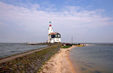 traditionally dutch: The Lighthouse Stock Photo