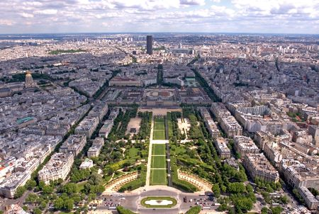 A view of Paris from the 2nd floor of the Eiffel Tower photo