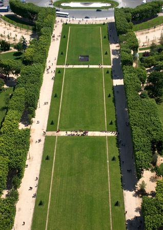 show garden: A view from the 2nd floor of the Eiffel Tower