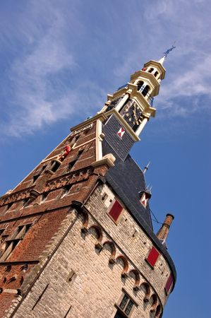 traditionally dutch: The massive Hoofdtoren, located near the harbour in the town of Hoorn, in the Netherlands, was built with white stone from Belgium. The tower dominates the skyline of this town on the IJsselmeer