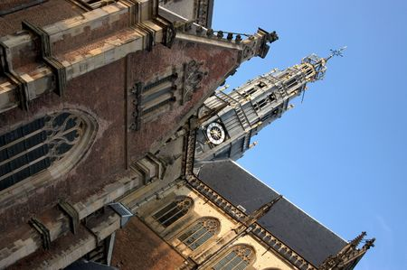traditionally dutch: St Bavos Church - Haarlem, the Netherlands
