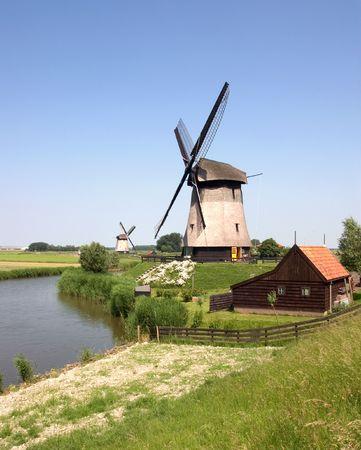 wind powered building: Dutch Windmills