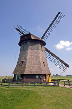 traditionally dutch: Dutch Windmill Stock Photo