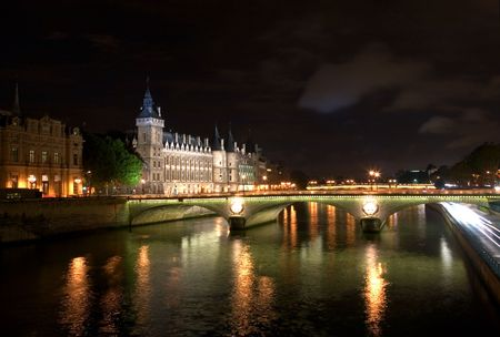 The Seine at Night photo