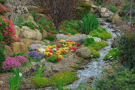 Garden Stream Stock Photo