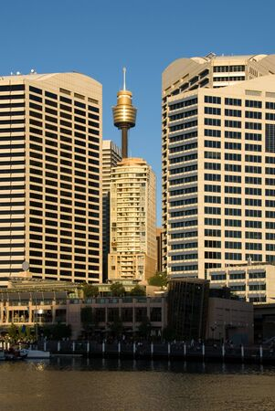 centrepoint tower: City Buildings at Dusk